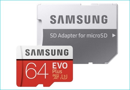 MicroSD card with SD Adapter