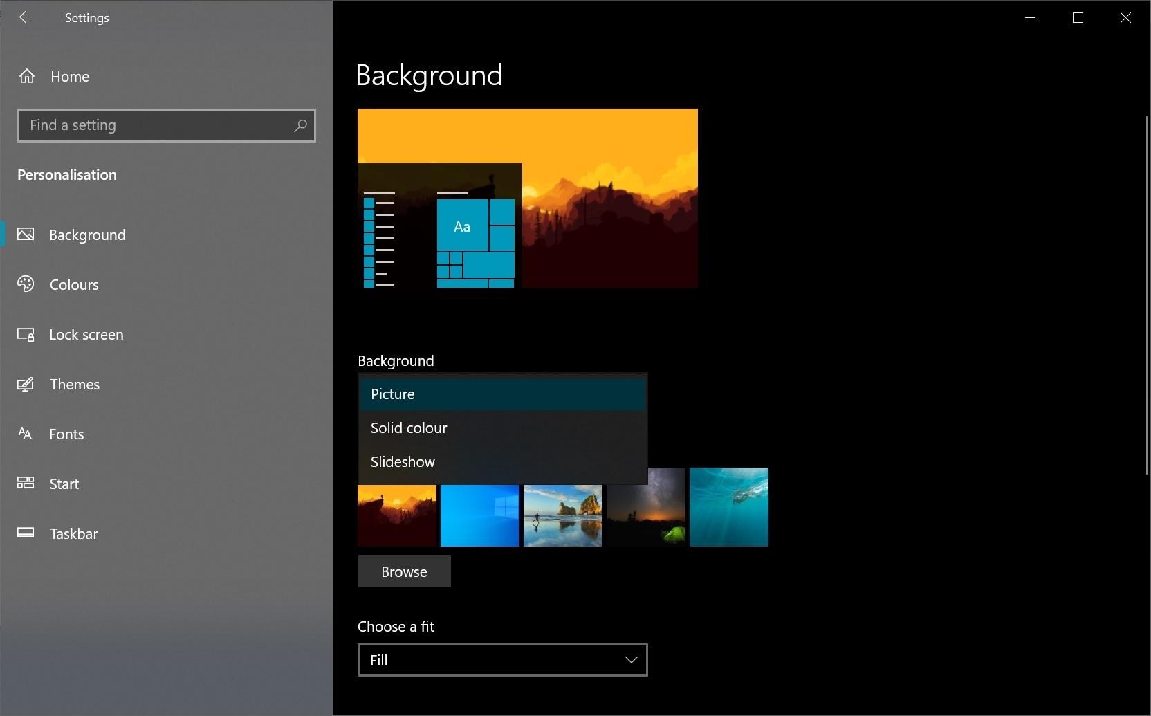 Windows Background Wallpaper Slideshow